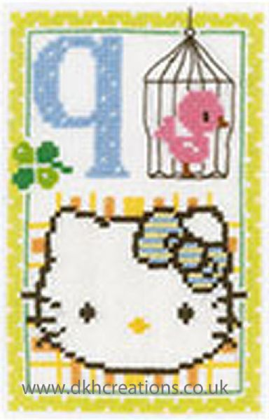 Hello Kitty Alphabet Letter Q Cross Stitch Kit